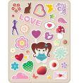 Valentines stickers vector