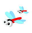 Icon dragon fly vector