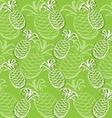 Pineapple pattern vector