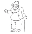 Old man vector