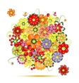 Floral bouquet flowers made from fruits vector