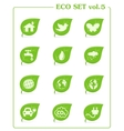 Ecology icon set v4 leaf nature icons vector
