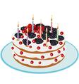 Birthday cake - vector