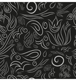 Botanical ornate seamless pattern vector