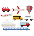 Transportation and travel vector