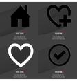 Set of fashionable icons trending symbols flat vector