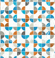 Seamless mosaic tiles pattern in retro style vector