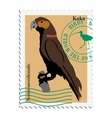 Stamp with image of parrot vector