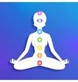 Meditation and chakras vector