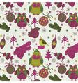 Owl xmas decoration vector