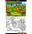 Cartoon insects or bugs for coloring book vector