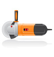 Electric angle grinder vector