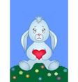 Rabbit with heart vector