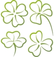 With a set of clover leaves vector