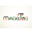 Marketing word font concept vector