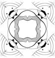 Ornamental square border vector