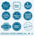 Drinking water labels vector