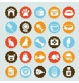 Set of stickers with pet icons vector