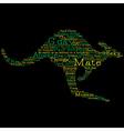 Kangaroo made from australian slang words in vector