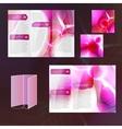 Pink brochure template vector
