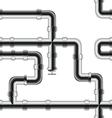 Seamless metal pipe pattern vector
