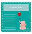 Baby elephant card vector