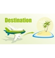 With plane and island vector