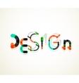 Design word font concept vector