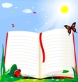 Book and nature vector