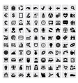 100 web icons vector
