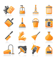 Cleaning and hygiene icons vector