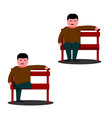 Man sitting on a park bench vector