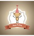 Birthday card with monkey vector