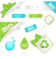 Ecology labels and bio icons vector