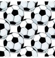 Football or soccer balls seamless pattern vector