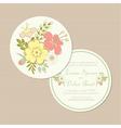 Round spring wedding invitation card vector