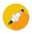 Sparkplug single icon vector