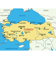 Republic of turkey - map vector