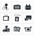 Media icon collection vector
