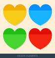 Colored stickers paper for notes vector