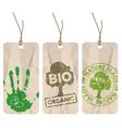 Organic tags vector