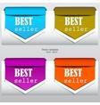 Bookmarks bestseller vector