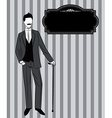 Man in a suit vector