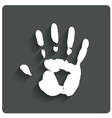 Hand print human handprint icon vector