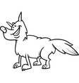 Wolf animal cartoon coloring book vector