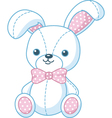 Soft toy bunny vector