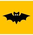 Cartoon bat on orange background vector