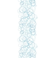 Abstract blue circles vertical border seamless vector