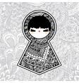 Geometric kawaii babushka matryoshka doll vector