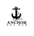 Anchor sea bar concept vector